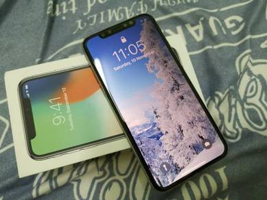 Iphone x 64gb white (full set with fast charger)