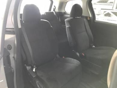 Estima 2013 facelift black seat interior NFL