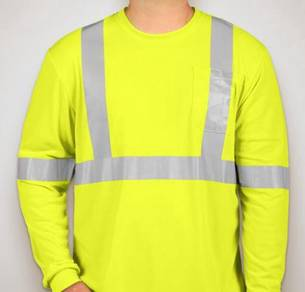 Long Sleeve Performance Safety Shirt color Yellow