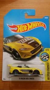 HotWheels '15 Mazda MX-5 Miata yellow