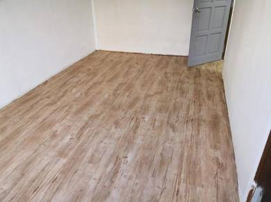 Vinyl Floor Lantai Timber Laminate PVC Floor FOS