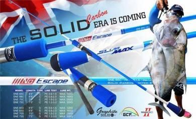 Lemax Slim Max No Escape Solid Carbon Fishing Rod