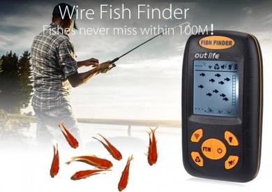 Portable Wire Sonar Fish Finder Sensor Echo