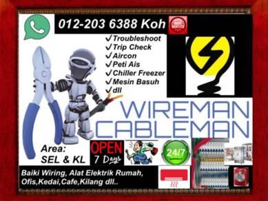 Repair Wiring Elektrik Mesin Troubleshoot Peti