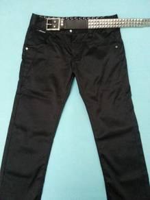 Korean Men Skinny Slim Fit Pants With Free Belt