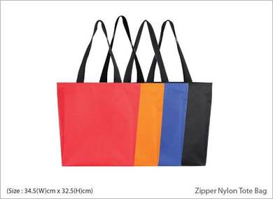 Zipper Nylon Tote Bag