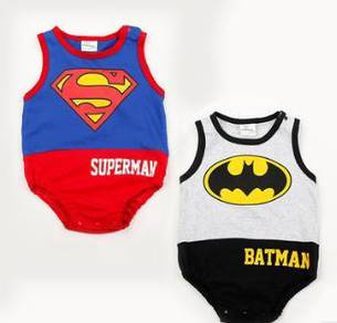 Superman and batman kid cloth