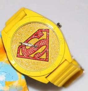 Superman watch (yellow)