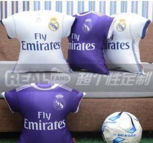 Real madrid pillow (white/purple) 2 sofa