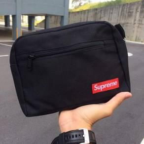 Supreme unisex black clutch