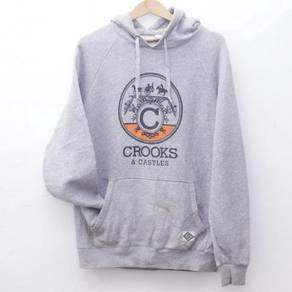 Size M CROOK & CASTLES Pull Over Hoodie Pit 21.5