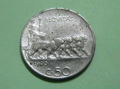 Italy 50 Centesimi 1920