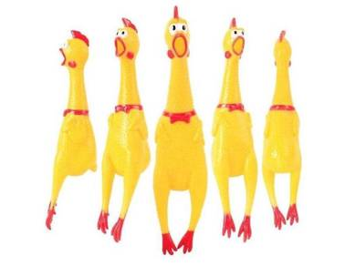 Rubber Chicken squeeze shrilling screaming toy