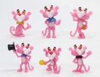 Pink Panther action figure toys cute cartoon 4.5cm