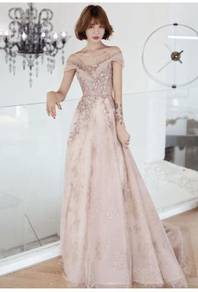 Pink wedding prom evening dress gown RBP1209