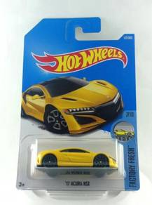 Hotwheels Factory Fresh Acura NSX 17' #7 Yellow