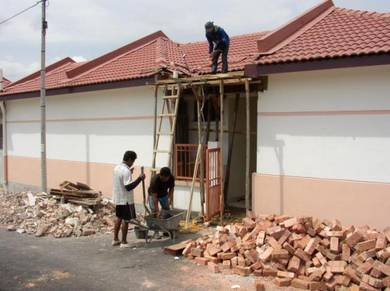 Wall Breaking Brick Works Extension New Roof Tiles