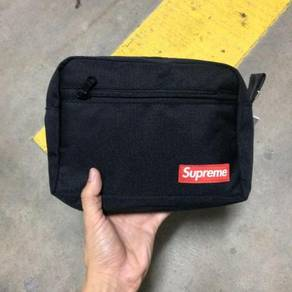 Supreme unisex black clutch wallet