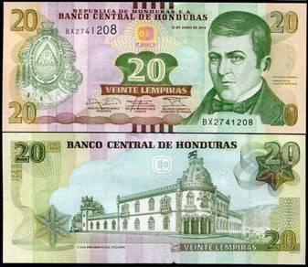HONDURAS 20 LEMPIRAS polymer P 100 UNC