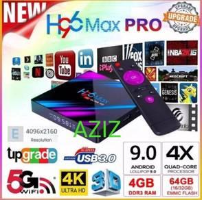 H96 PRO 4+64GB superb UHD Android tv box tx6 tx3