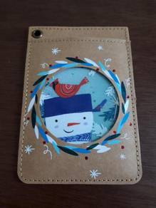 Starbucks China Snowman Rewards Card and Holder Se