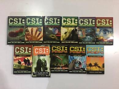 11 x CSI & CSI Miami Paperback Novels & Comic