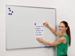 Magnetic White Board C/W Alum Frame 4' x 6'