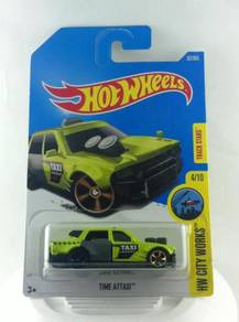 Hotwheels 2017 HW City Works Time Attaxi #4 Green