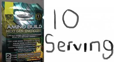 Muscletech amino build next gen energized 10 servi