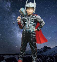 Marvel thor kid cosplay costume