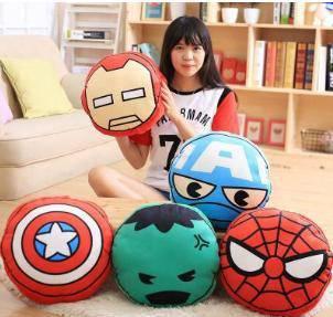 Avengers the hulk spiderman captain america pillow