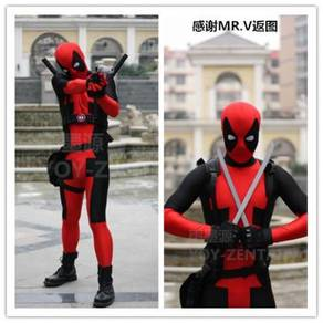 Marvel Deadpool cosplay costume suit