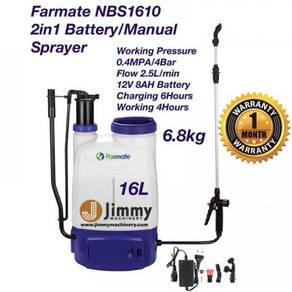 FARMATE 2IN1 16L BATTERY MANUAL Pump Racun