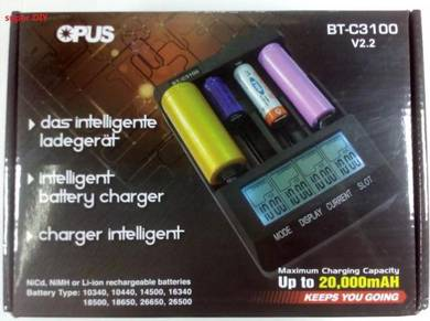 OPUS BT-C3100 4 Slots Digital Intelligent Charger
