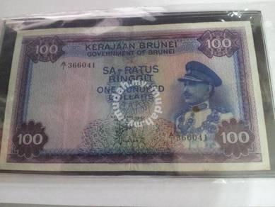 Brunei 100 Dollars 1967