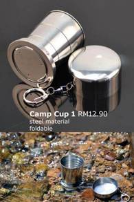 Camping Cup Foldable Steel PVC Silicone Cup