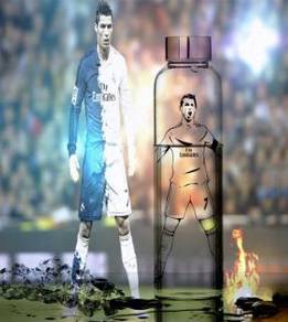 Real madrid Cristiano Ronaldo glass bottle