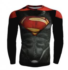 Superman 3D long slevee cloth
