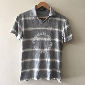 Polo By Ralph Lauren Size 150 size S gray stripes