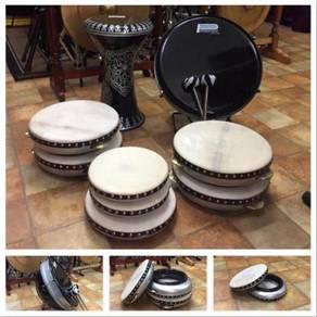 Set Bass Hadrah (Hitam + Silver)