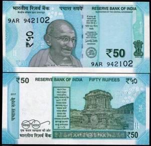 INDIA 50 RUPEES 2017 P NEW unc