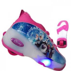 Roller Skating Shoes Light Flash, Blue Frozen