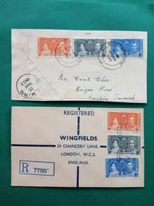 FDC Malaya Coronation 1937 B266