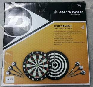Dunlop tournament paper dartboard 18