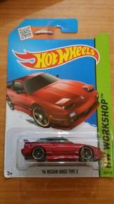HotWheels '96 Nissan 180SX Type X Red