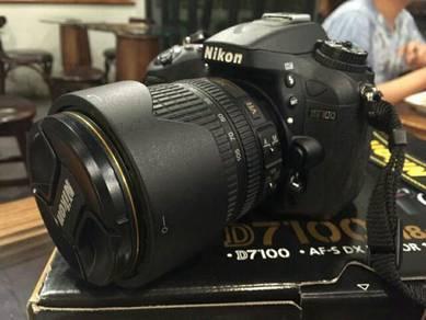 Nikon D7100 Kitlens Fullbox Package