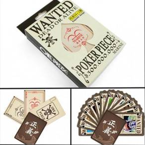 One Piece Anime Poker Card Wanted Luffy Kad Cute 1