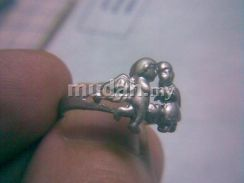 ABRSM-A001 Angel Couple In Love Silver Metal Ring