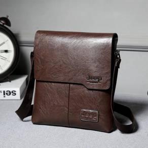 BSJ668 Jeep Popular Business Men Bag (Dark Brown)