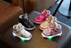 Hello Kitty Shoes with LED Light kasut lampu